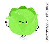 cute funny cabbage character.... | Shutterstock .eps vector #2014431029