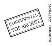 grunge stamps 'confidential top ...   Shutterstock .eps vector #2014446080