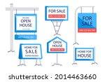 sale real estate signs design.... | Shutterstock .eps vector #2014463660