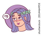 isolated virgo icon colored... | Shutterstock .eps vector #2014464953
