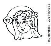 isolated virgo icon outline... | Shutterstock .eps vector #2014464986