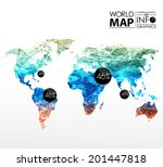 world map background in... | Shutterstock .eps vector #201447818