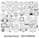 mega set of thin lineretro... | Shutterstock .eps vector #201448046