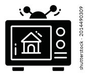television ad trendy icon  flat ...