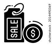 price tag trendy icon  flat...