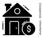 house value trendy icon  flat...