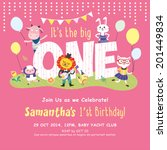 1st birthday party invitation... | Shutterstock .eps vector #201449834