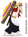 woman wearing traditional... | Shutterstock .eps vector #2014503029