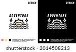 sun and sea mono line design in ...   Shutterstock .eps vector #2014508213