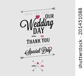 wedding invitation vintage... | Shutterstock .eps vector #201451088