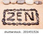 Zen Word Written With Pebbles...