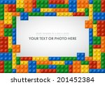 Template of plastic parts for text or photo. 5 colors. Enjoy! - stock vector
