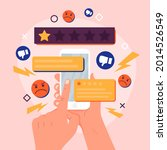 bad review concept design.... | Shutterstock .eps vector #2014526549