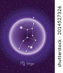 sign of the zodiac virgo.... | Shutterstock .eps vector #2014527326
