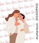 wedding of two lesbian women in ...   Shutterstock .eps vector #2014539923