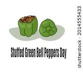 stuffed green bell peppers day  ...   Shutterstock .eps vector #2014555433