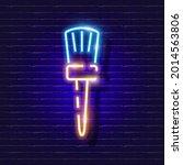 building paintbrush neon icon....   Shutterstock .eps vector #2014563806