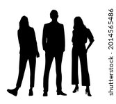vector silhouettes of  man and...   Shutterstock .eps vector #2014565486