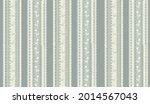 floral stripy seamless textile... | Shutterstock .eps vector #2014567043
