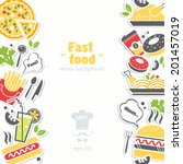 fast food background | Shutterstock .eps vector #201457019