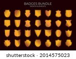 vector blank medieval frames... | Shutterstock .eps vector #2014575023