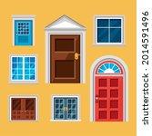 front doors and windows icon... | Shutterstock .eps vector #2014591496