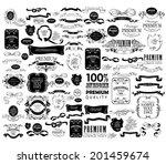 mega set of ornate frames and... | Shutterstock .eps vector #201459674