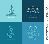 yachting  surfing  diving club  ... | Shutterstock .eps vector #2014607273