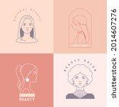 hair salon  beauty shop ... | Shutterstock .eps vector #2014607276
