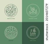 grocery store vector logo... | Shutterstock .eps vector #2014607279