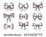 bows set  ribbon  decoraton... | Shutterstock .eps vector #2014608770