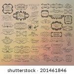 mega set of thin line frames... | Shutterstock .eps vector #201461846