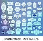mega set of thin lineretro... | Shutterstock .eps vector #201461876