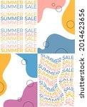 summer sale banner set design.... | Shutterstock .eps vector #2014623656