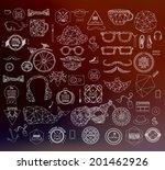 modern thin line hipster style...   Shutterstock .eps vector #201462926