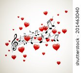 vector illustration of music... | Shutterstock .eps vector #201463040