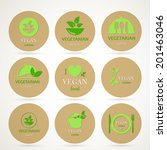 vector illustration of vegan... | Shutterstock .eps vector #201463046