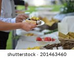 buffet of fresh fruit and... | Shutterstock . vector #201463460