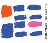 Pink Watercolor Graffiti. Blue...