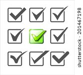 validation icons set of nine... | Shutterstock .eps vector #201467198