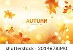 autumn sale falling leaves... | Shutterstock .eps vector #2014678340