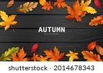 autumn sale falling leaves... | Shutterstock .eps vector #2014678343