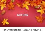 autumn sale falling leaves... | Shutterstock .eps vector #2014678346