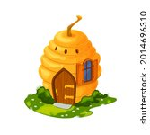 fairy bee hive cartoon house or ...