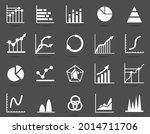 set of business graph icon ... | Shutterstock .eps vector #2014711706