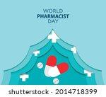 world pharmacist day simple... | Shutterstock .eps vector #2014718399