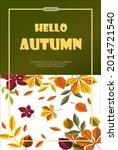 bright vector autumn sales... | Shutterstock .eps vector #2014721540