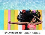 tropical summer holiday fashion ... | Shutterstock . vector #201473018