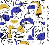 abstract woman portrait... | Shutterstock .eps vector #2014741250