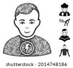 mesh power man web symbol... | Shutterstock .eps vector #2014748186